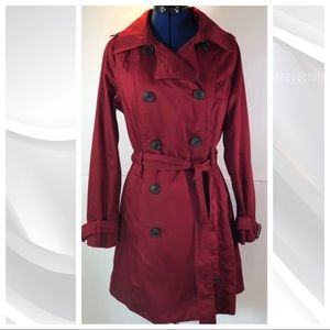 Merona | Red Water Resistant Trench Coat